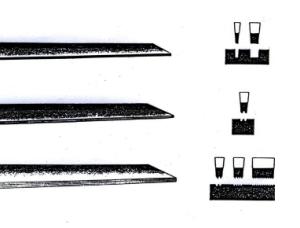 Flachstichel - Zweireiher - Fadenstichel
