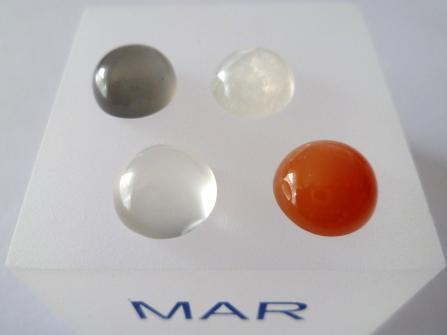 verschiedenfarbige Mondsteine rund Cabochon 10,00 mm