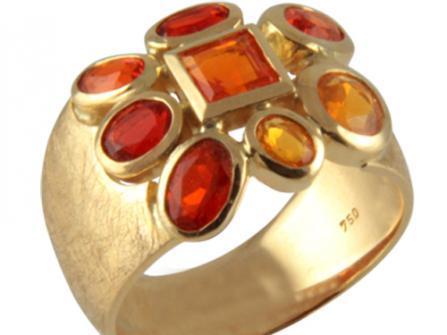 Goldring Feueropal 2,175 ct. (Gelbgold 750)