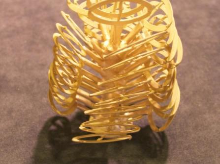 Der Beginn eines Colliers in 750/- Gelbgold