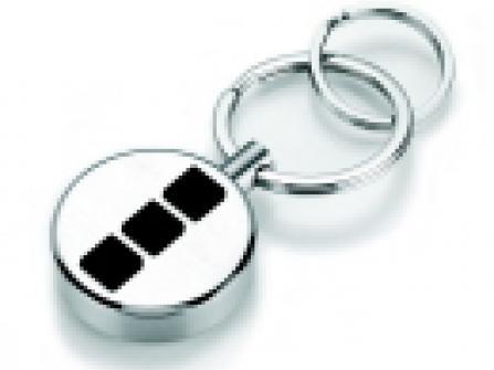 Schlüsselanhänger TuTo im 3-Quadrate-Design