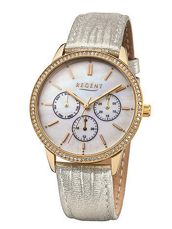 Uhren für Frauen - Regent Armbanduhr Damen Double Lederband  - Onlineshop Goettgen