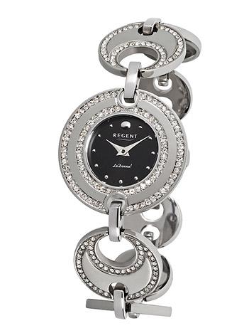 Uhren für Frauen - Regent Armbanduhr Damen Edelstahl Metallband  - Onlineshop Goettgen
