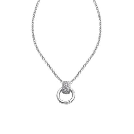 Ketten für Frauen - Ti Sento Collier 42 cm 925 Silber mit Clipring für Charms  - Onlineshop Goettgen