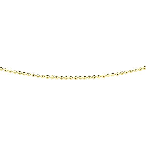 Ernstes Design Kugelkette, 1,5 mm, Gelbgold bes...