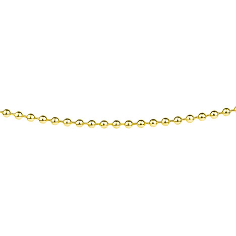 Ernstes Design Kugelkette, 2,4 mm, Gelbgold bes...