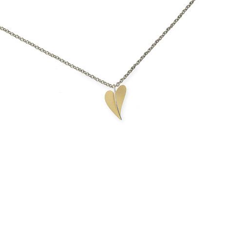 Ernstes Design Anhänger, Herz, vergoldet | Schmuck > Halsketten > Herzketten | Silber - Mehrfarbigen - Multicolor - Gold | Ernstes Design