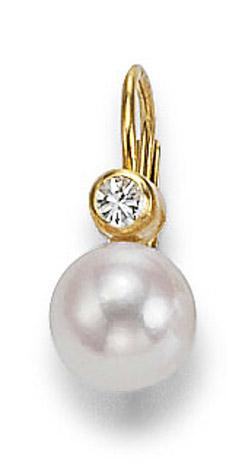Ohrringe für Frauen - SIGO Ohrringe 585 Gelbgold Diamant Zuchtperle 5,5 6mm  - Onlineshop Goettgen