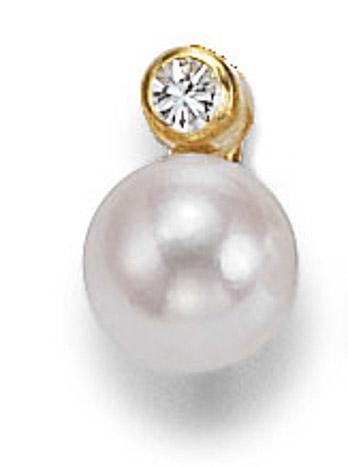 Ohrringe für Frauen - SIGO Ohrstecker 585 Gelbgold Süßwasser Perle 8 mm PAAR  - Onlineshop Goettgen