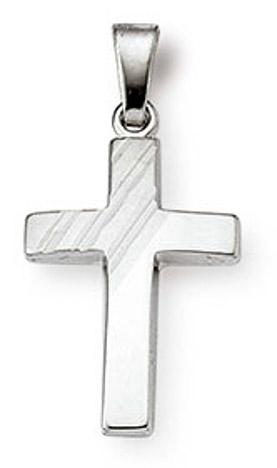 SIGO Anhänger Kreuz 925 Silber 18 mm