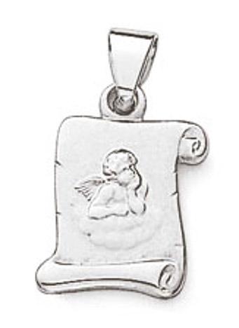 SIGO Anhänger Engel 925 Silber Lümmel/GSD 10 mm