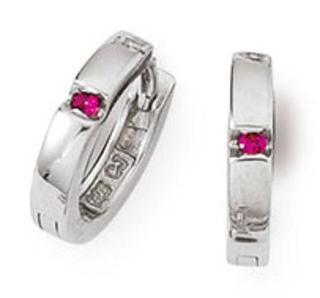 Ohrringe für Frauen - SIGO Creolen 925 Silber Zirkonia Rot  - Onlineshop Goettgen