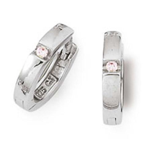 Ohrringe für Frauen - SIGO Creolen 925 Silber Zirkonia Rosa  - Onlineshop Goettgen