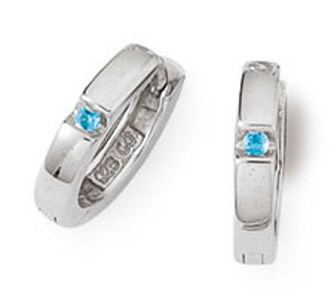 Ohrringe für Frauen - SIGO Creolen 925 Silber Zirkonia Blau  - Onlineshop Goettgen