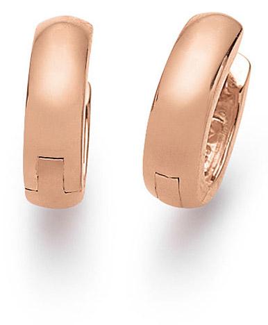 Ohrringe für Frauen - SIGO Creolen 925 Silber rotvergoldet  - Onlineshop Goettgen
