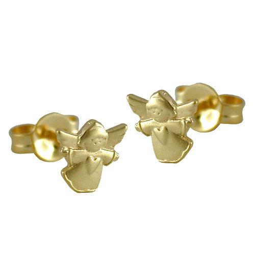 Ohrringe für Frauen - SIGO Ohrstecker, fliegender Engel, Gold 375  - Onlineshop Goettgen