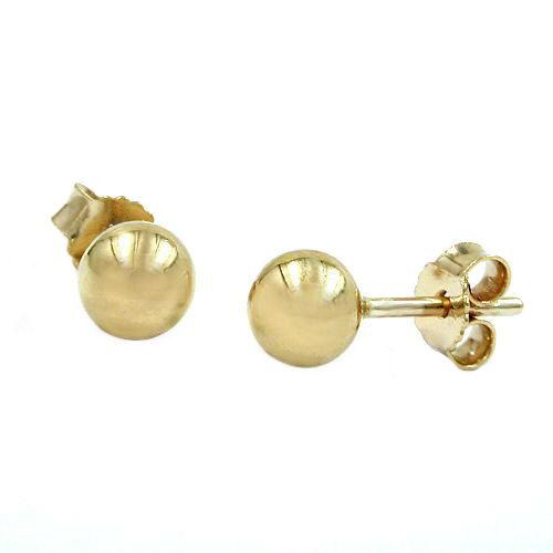 Ohrringe für Frauen - SIGO Ohrstecker, ca. 5mm Kugel, hohl, Gold 375  - Onlineshop Goettgen