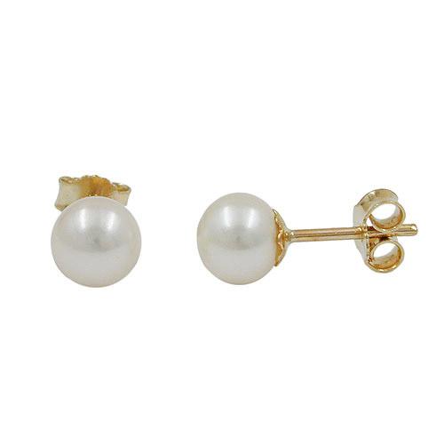 Ohrringe für Frauen - SIGO Ohrstecker, 6mm Süßwasserperle, Gold 375  - Onlineshop Goettgen