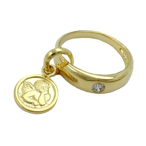 SIGO Anhänger, Taufring mit Engel Gold 375