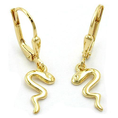 Ohrringe für Frauen - SIGO Ohrringe Brisur, Schlange glänzend, Gold 333  - Onlineshop Goettgen