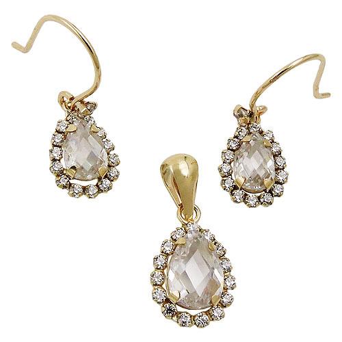 Schmucksets für Frauen - SIGO Set, Ohrringe Ohrhaken Anhänger, Gold 375  - Onlineshop Goettgen