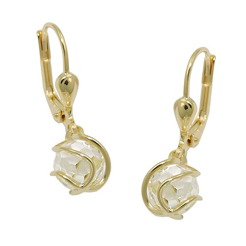 Ohrringe für Frauen - SIGO Ohrringe Brisur, Kugel Zirkonia weiß, Gold 333  - Onlineshop Goettgen