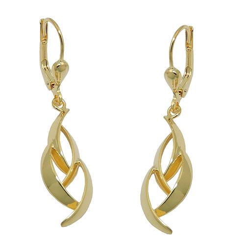 Ohrringe für Frauen - SIGO Ohrringe Brisur, glänzend, Gold 333  - Onlineshop Goettgen
