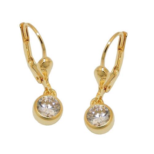Ohrringe für Frauen - SIGO Ohrringe Brisur, Zirkonia weiß, Gold 333  - Onlineshop Goettgen