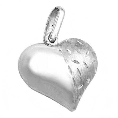 SIGO Anhänger, Herz diamantiert, Silber 925