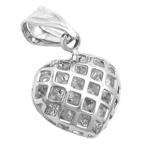 SIGO Anhänger Herz mit Zirkonia, Silber 925