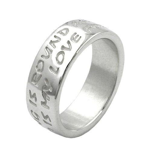 SIGO Ring, LOVE HAS NO END, Silber 925