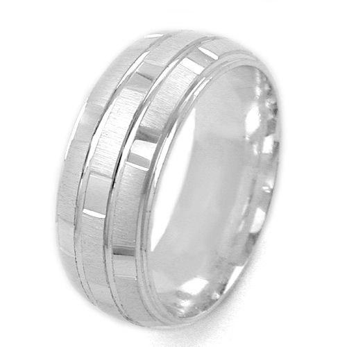 SIGO Ring, matt-glänzend, kariert, 925