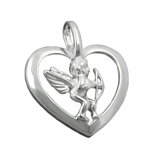 SIGO Anhänger, Herz mit Engel, Silber 925
