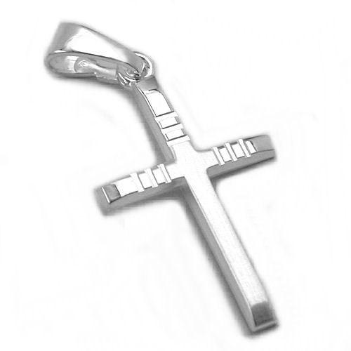 SIGO Anhänger, Kreuz diamantiert, Silber 925