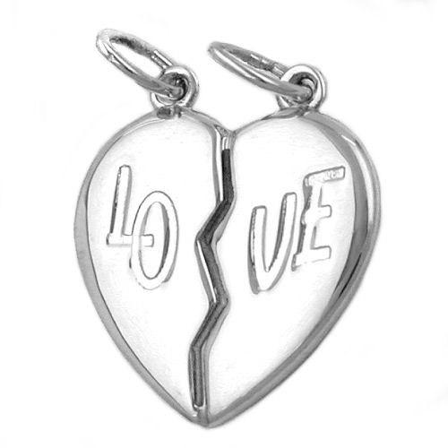 SIGO Anhänger, Doppelherz, LO-VE, Silber 925 | Schmuck > Halsketten > Herzketten | Silber | SIGO