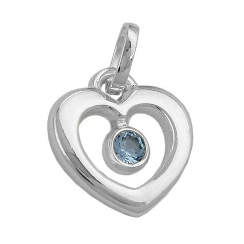 SIGO Anhänger, Herz mit synth Blautopas, 925 | Schmuck > Halsketten > Herzketten | Silber | SIGO
