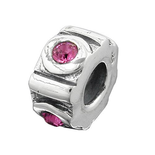 Armbaender für Frauen - SIGO Bead, pink, Silber 925  - Onlineshop Goettgen