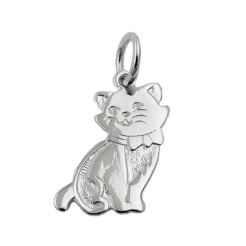 SIGO Anhänger, Katze glänzend, Silber 925