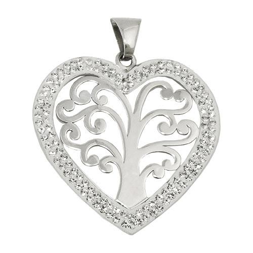 SIGO Anhänger Herz mit Lebensbaum, Silber 925 | Schmuck > Halsketten > Herzketten | Silber | SIGO