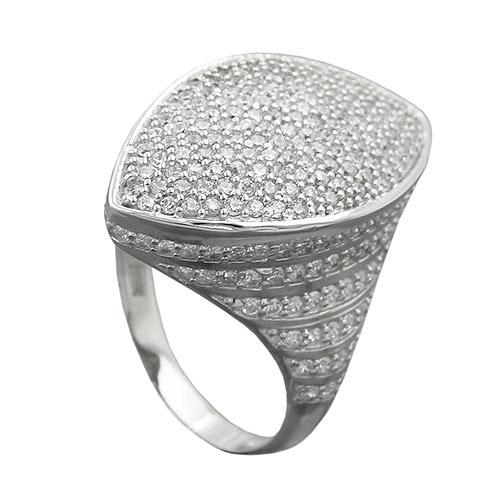 SIGO Ring mit vielen Zirkonia, Silber 925