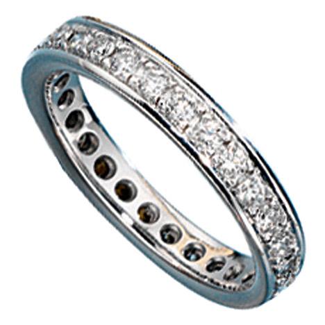 SIGO Memory Ring 585 Gold Weißgold mit Diamanten Brillanten rundum Memoryring