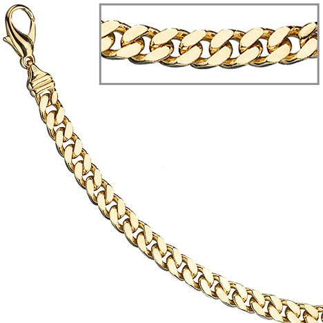 Armbaender für Frauen - SIGO Panzerarmband 585 Gelbgold massiv 19 cm Gold Armband Goldarmband Karabiner  - Onlineshop Goettgen