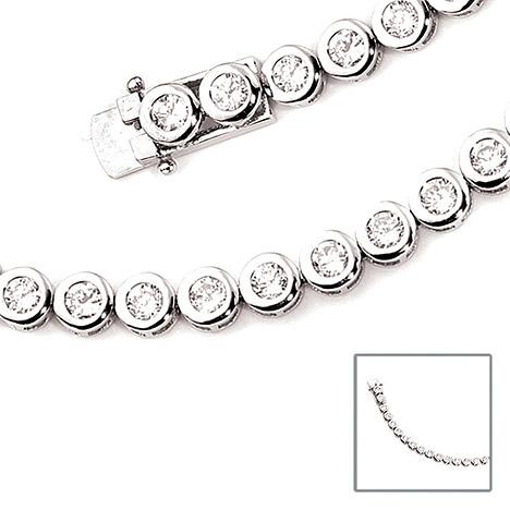 Armbaender für Frauen - SIGO Armband 925 Sterling Silber 28 Zirkonia 19 cm Silberarmband Kastenschloss  - Onlineshop Goettgen