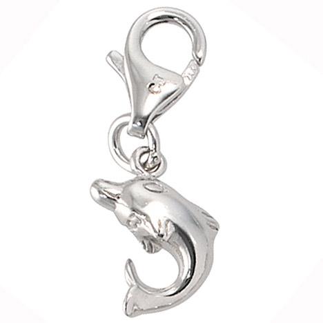 Armbaender für Frauen - SIGO Einhänger Charm Delfin 925 Sterling Silber rhodiniert  - Onlineshop Goettgen
