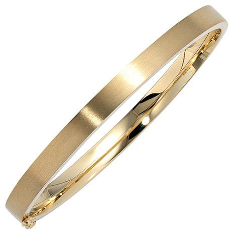 SIGO Armreif Armband oval 333 Gold Gelbgold mat...