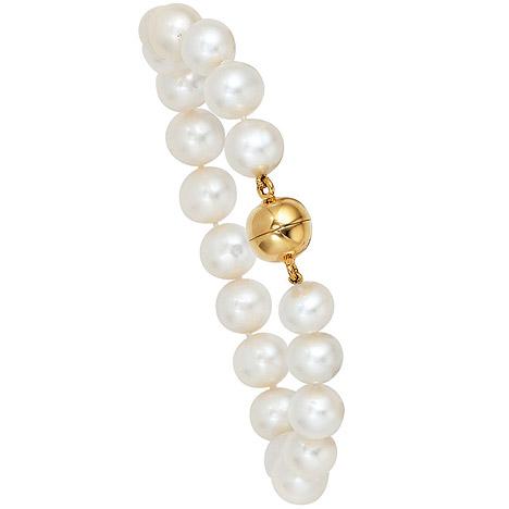 Armbaender für Frauen - SIGO Perlenarmband Süßwasser Perlen 19 cm Magnetverschluss aus 925 Silber Armband  - Onlineshop Goettgen