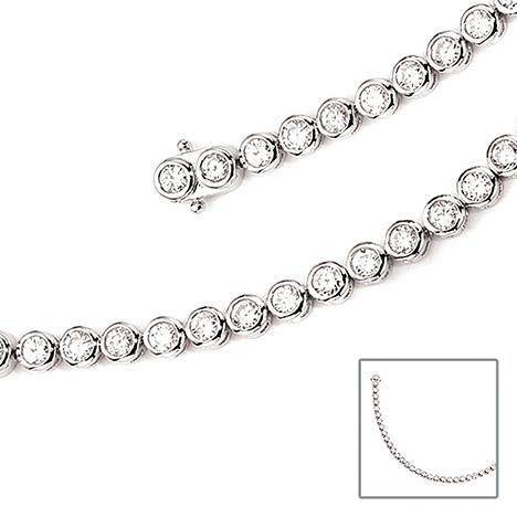 Armbaender für Frauen - SIGO Armband 925 Sterling Silber 42 Zirkonia 19 cm Silberarmband Kastenschloss  - Onlineshop Goettgen