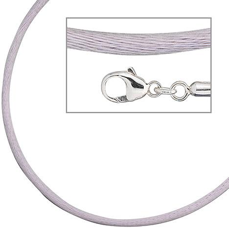 SIGO Collier Halskette Seide flieder 2,8 mm 42 ...