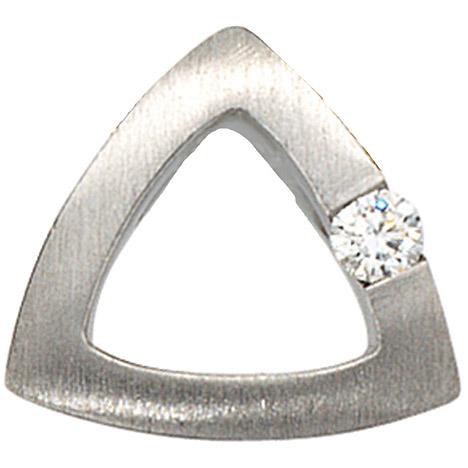 SIGO Anhänger 950 Platin mattiert 1 Diamant Brillant 0,08ct. Platinanhänger