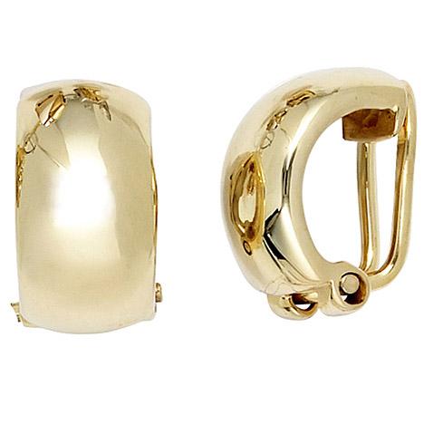 Ohrringe für Frauen - SIGO Ohrclips 333 Gold Gelbgold Ohrringe Clips  - Onlineshop Goettgen